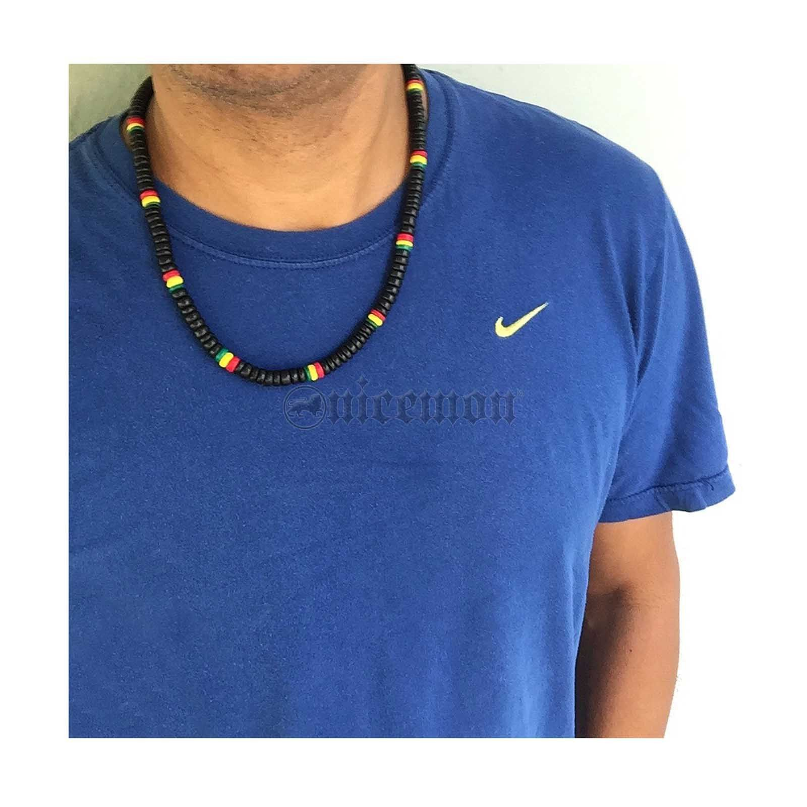 "Rasta Coconut Thick Necklace Coco Beads Rastafari Reggae Jamaica Marley 20/"" 8 mm"
