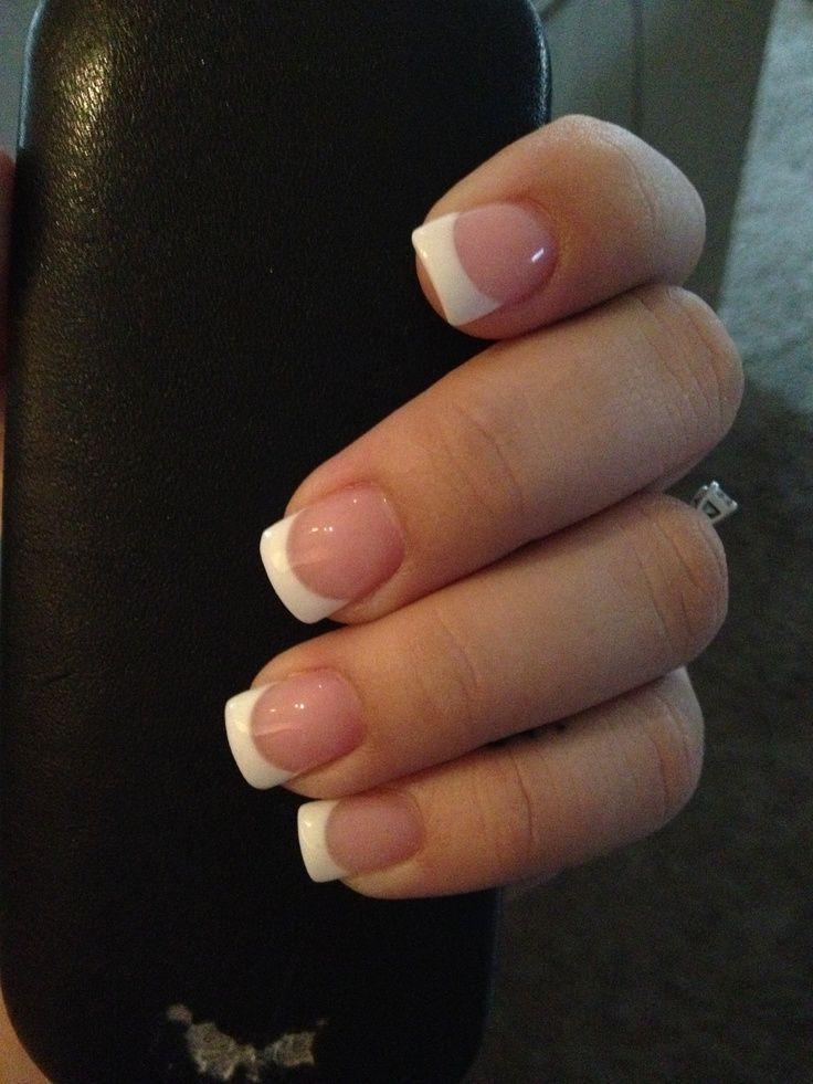 French acrylic nails   Nails   Pinterest   Nail nail, OPI and Double ...