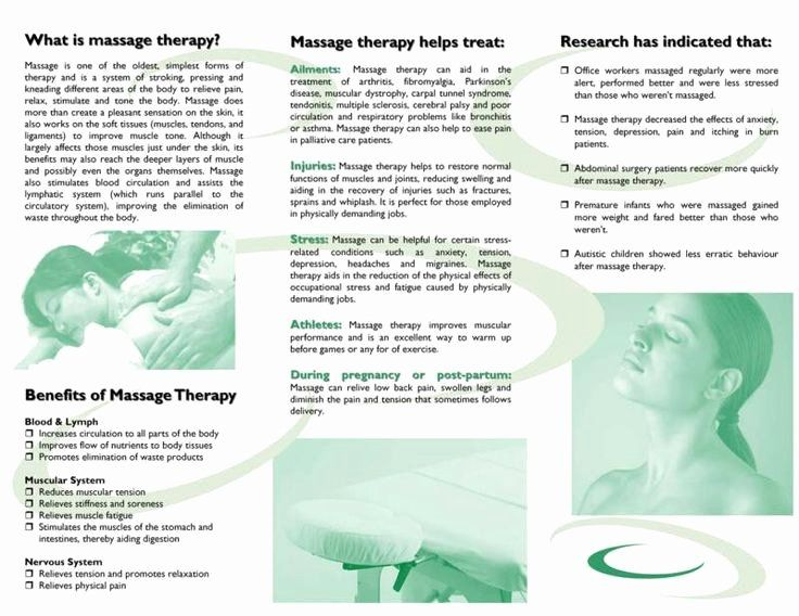 Massage therapy Business Plan Template Luxury Free