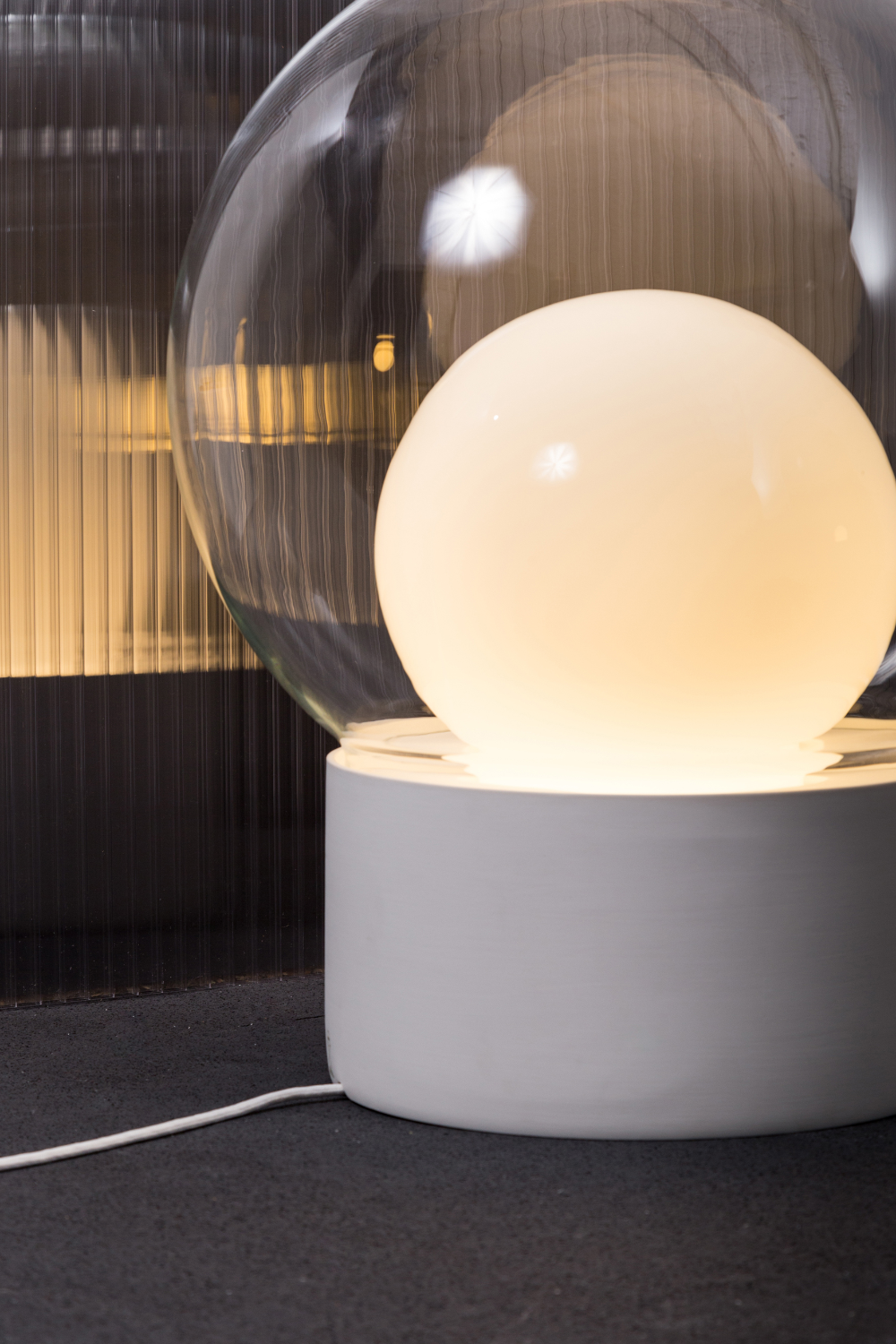 Glass Table Lamp Boule Small By Pulpo Design Sebastian Herkner Glass Table Lamp Lamp Glass Table