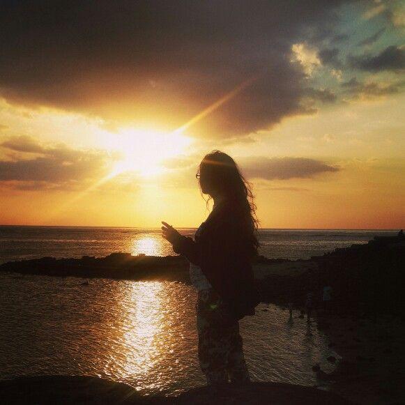 Sunset at Senggigi Beach, Lombok Island