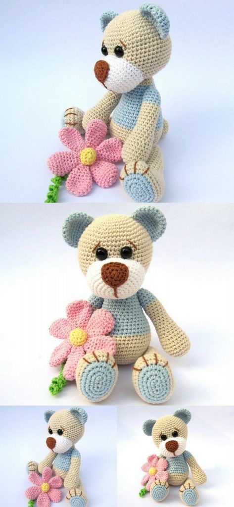 Crochet Teddy Bear Patterns - Amigurumi #crochetteddybearpattern