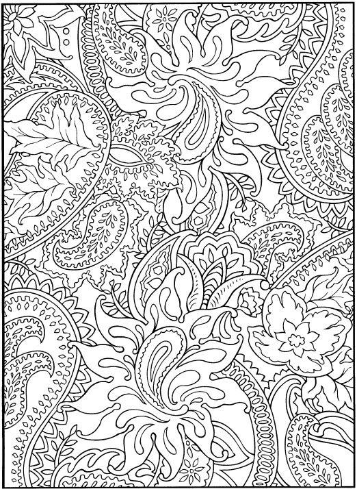 5 free Paisley Designs to color | Internet | Pinterest | Mandalas ...