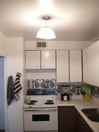 Updating Rental Kitchens on a Budget Kitchen backsplash, Kitchens