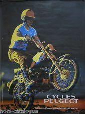 Affiche originale, Cycles Peugeot, Moto cross. Circa 1975.