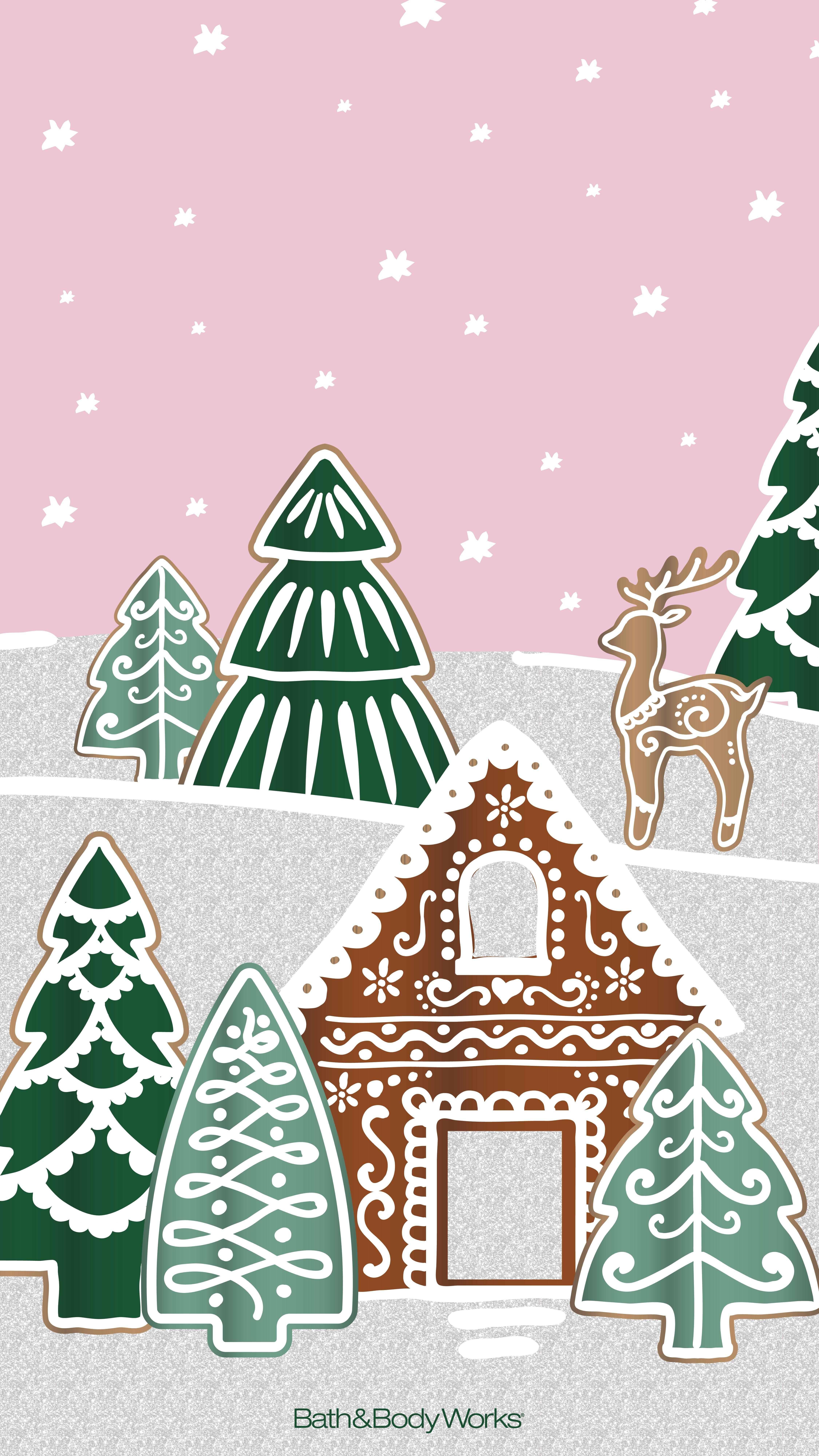 Pink Christmas Village Wallpaper Xmas Wallpaper Cute Christmas Wallpaper Wallpaper Iphone Christmas