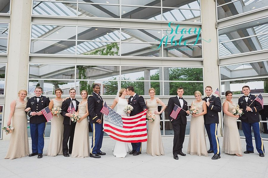 columbus indiana commons military wedding by indianapolis