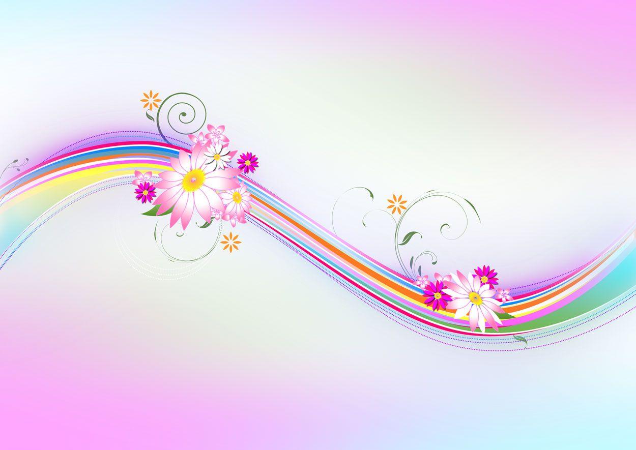 Abstract Design Flower Wallpaper: Sample Pink Floral Ppt Backgrounds