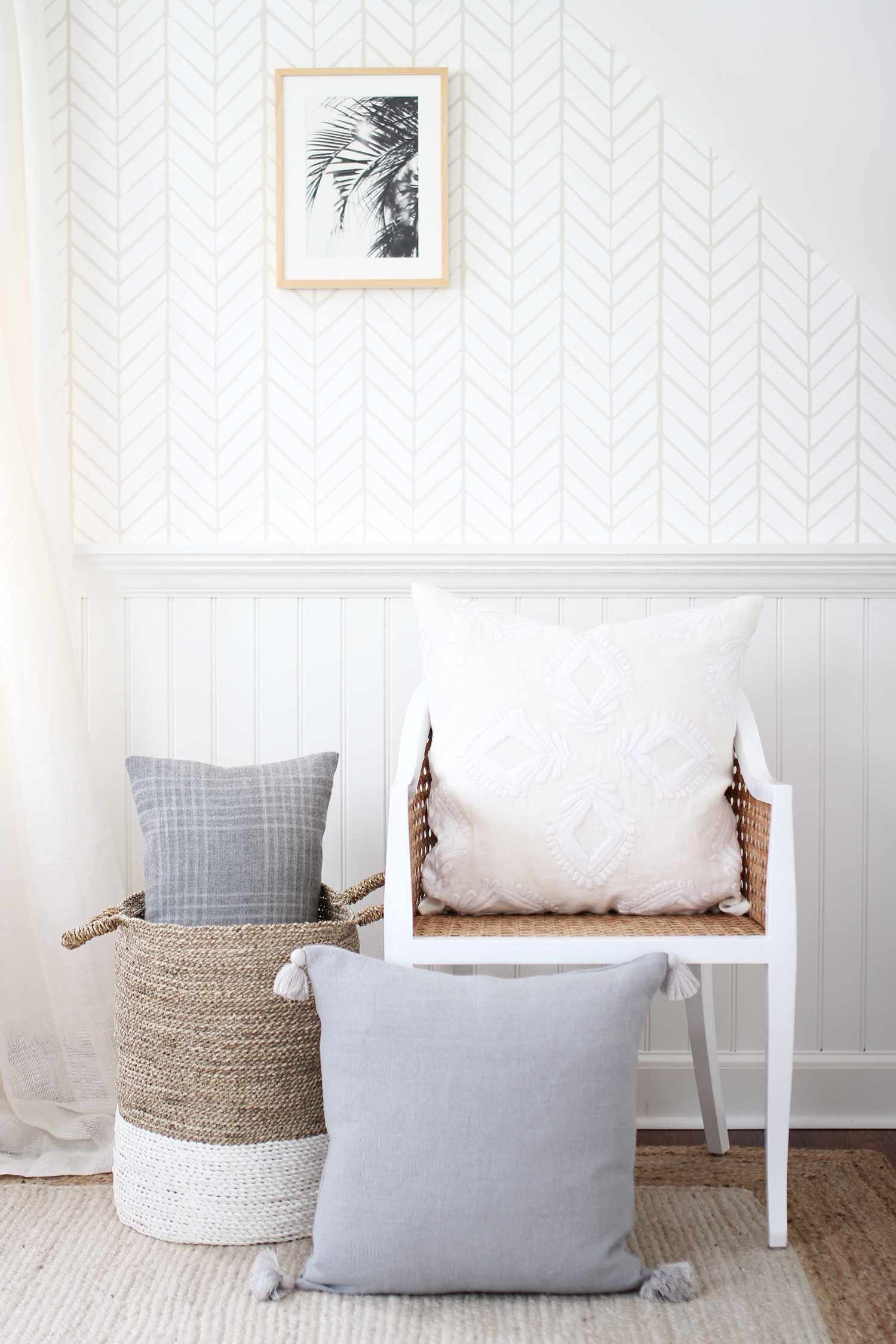 Serena & Lily Feather Wallpaper For the home in 2019
