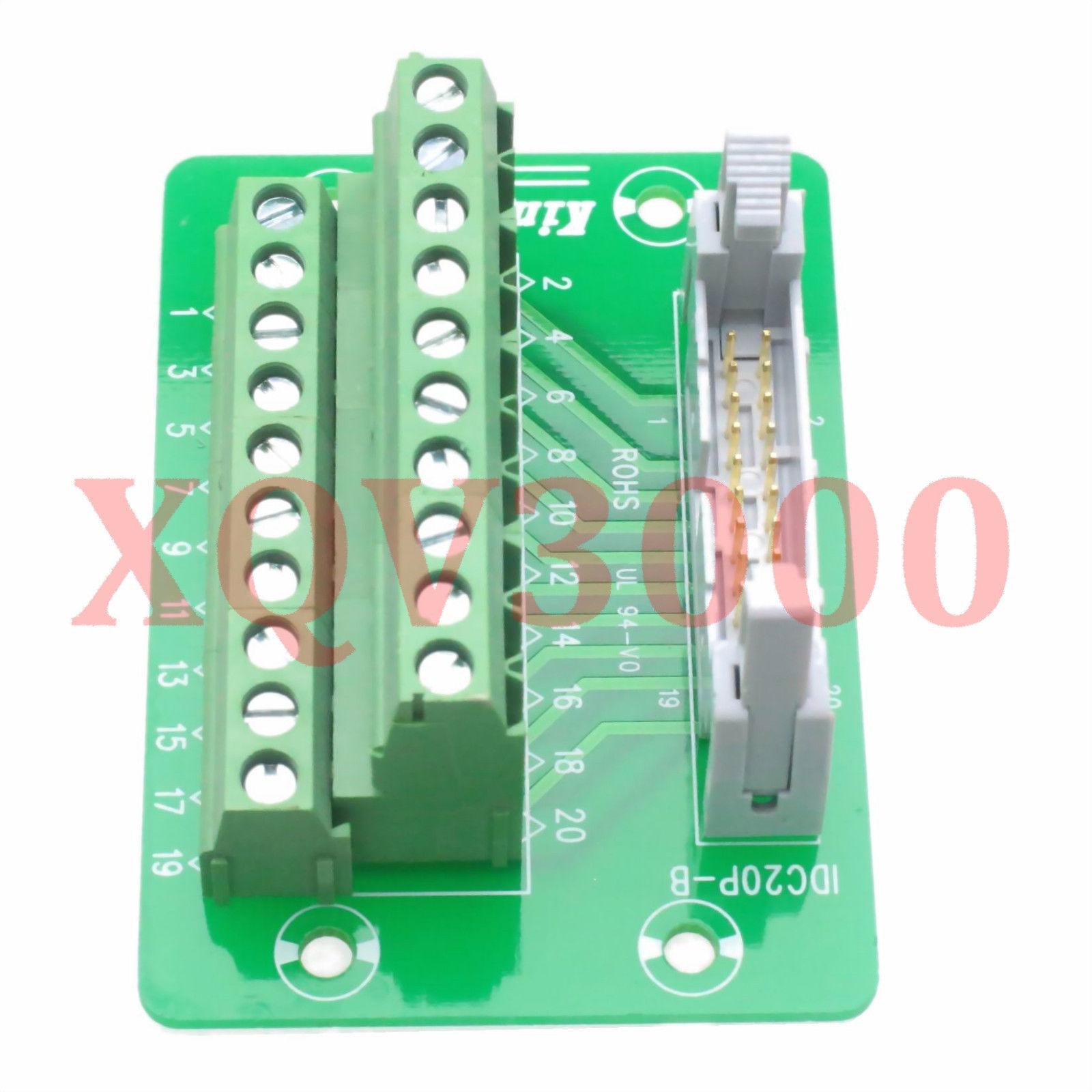 132 Connector Idc20 Idc 20 Pin Rail Din Mount Terminal Breakout Circuit Board Mounting Bracket For Ebay 2 Row C45 35mm Electronics
