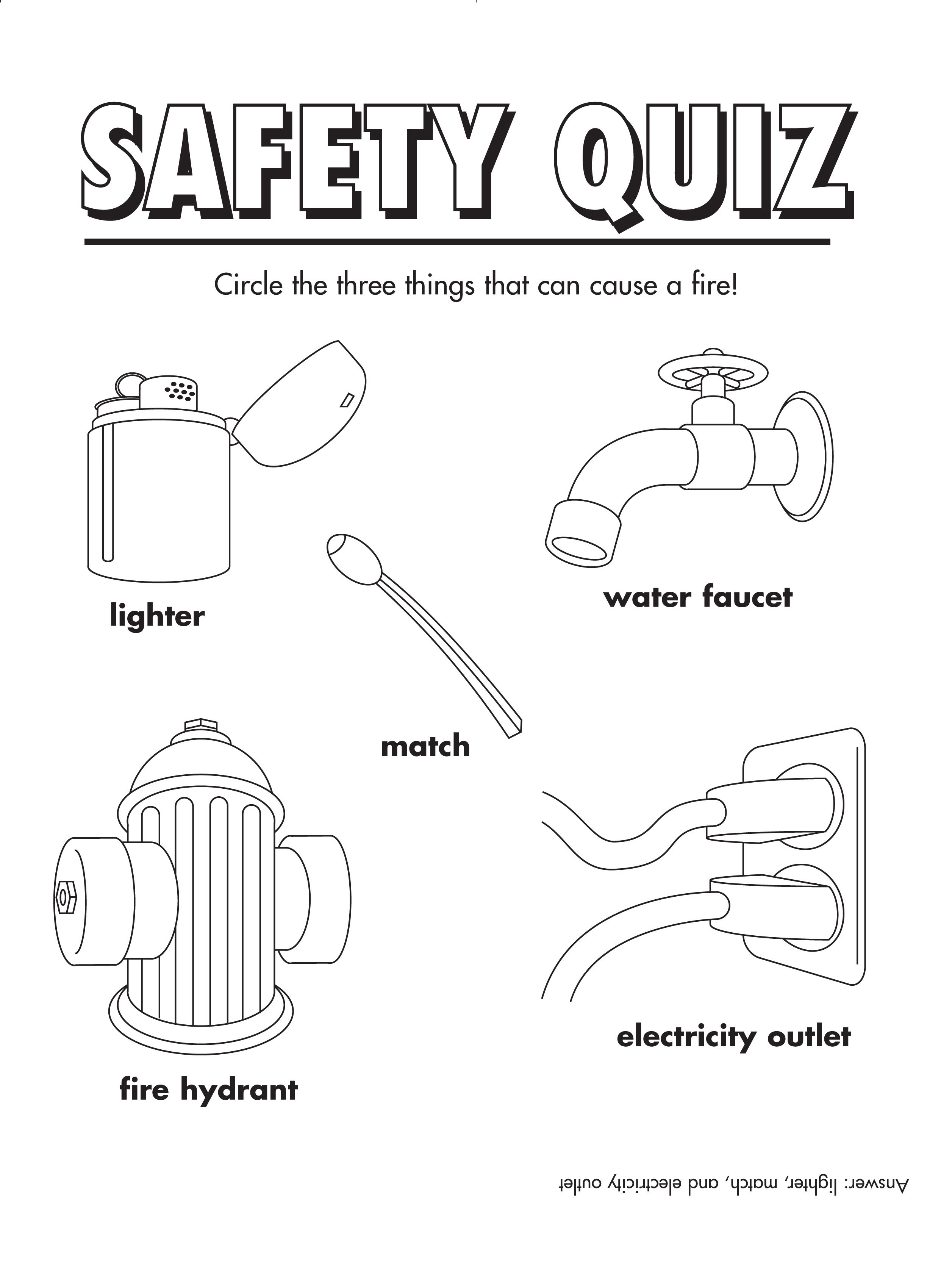 FireSafety Quiz Freeprintable
