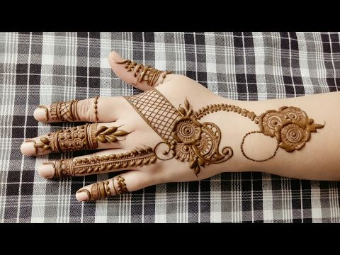How To Apply Simple Arabic Mehndi Designs For Back Hands Jewellery Style Henna By Jyoti Sachdeva Henna Designs Hand Mehndi Designs Mehndi Designs For Girls