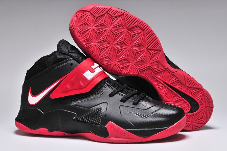 014ebd882634 LeBron Zoom Soldier 7 Black Gym Red  Nike LeBron Soldier-6265  -  68.99    lebronxlows.net sale