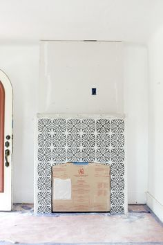 Building A New Fireplace Patterned Cement Tile Surround Fireplace Tile Surround Fireplace Tile Freestanding Fireplace