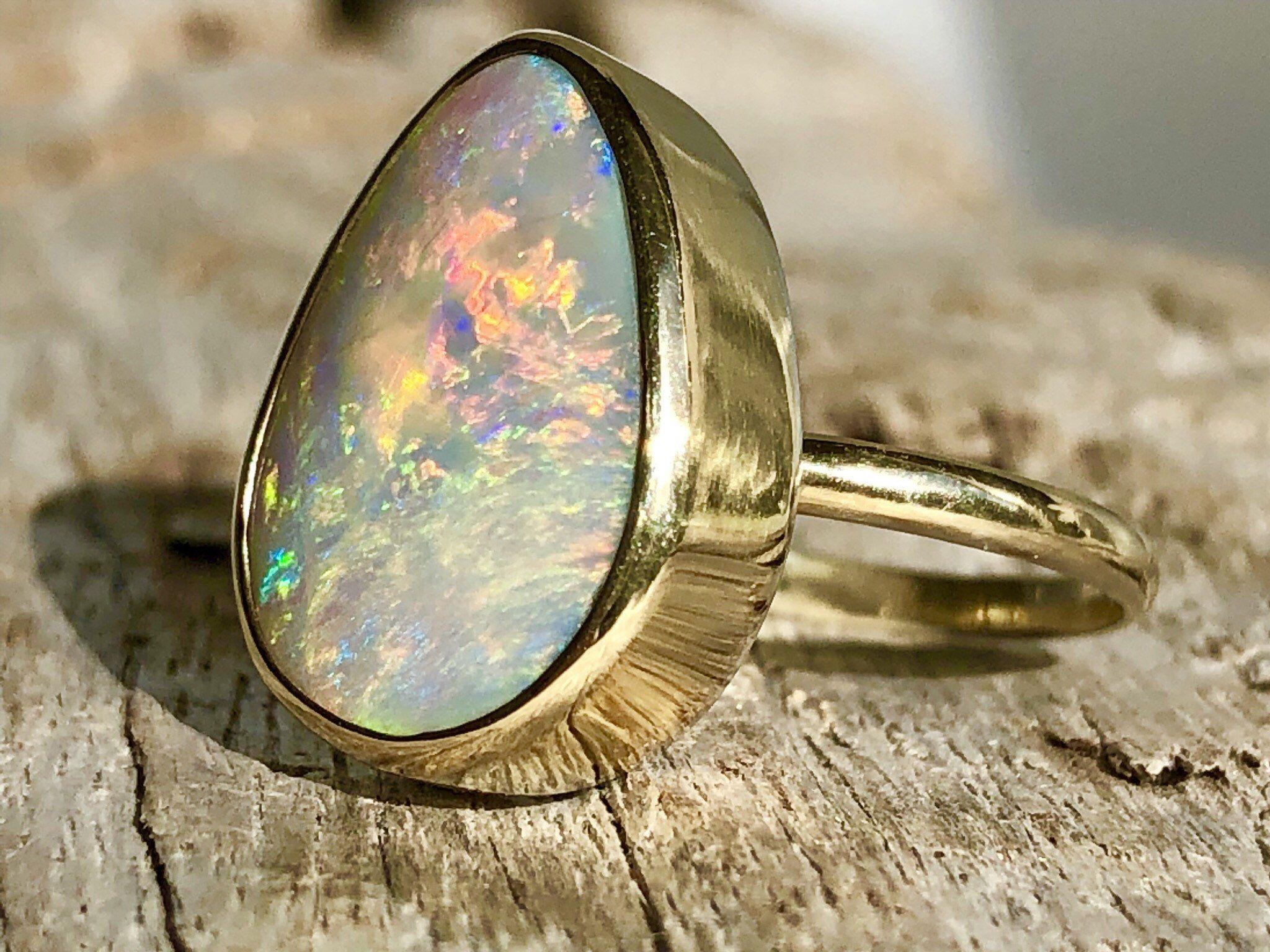Made to Order Lightning Ridge Opal Rings