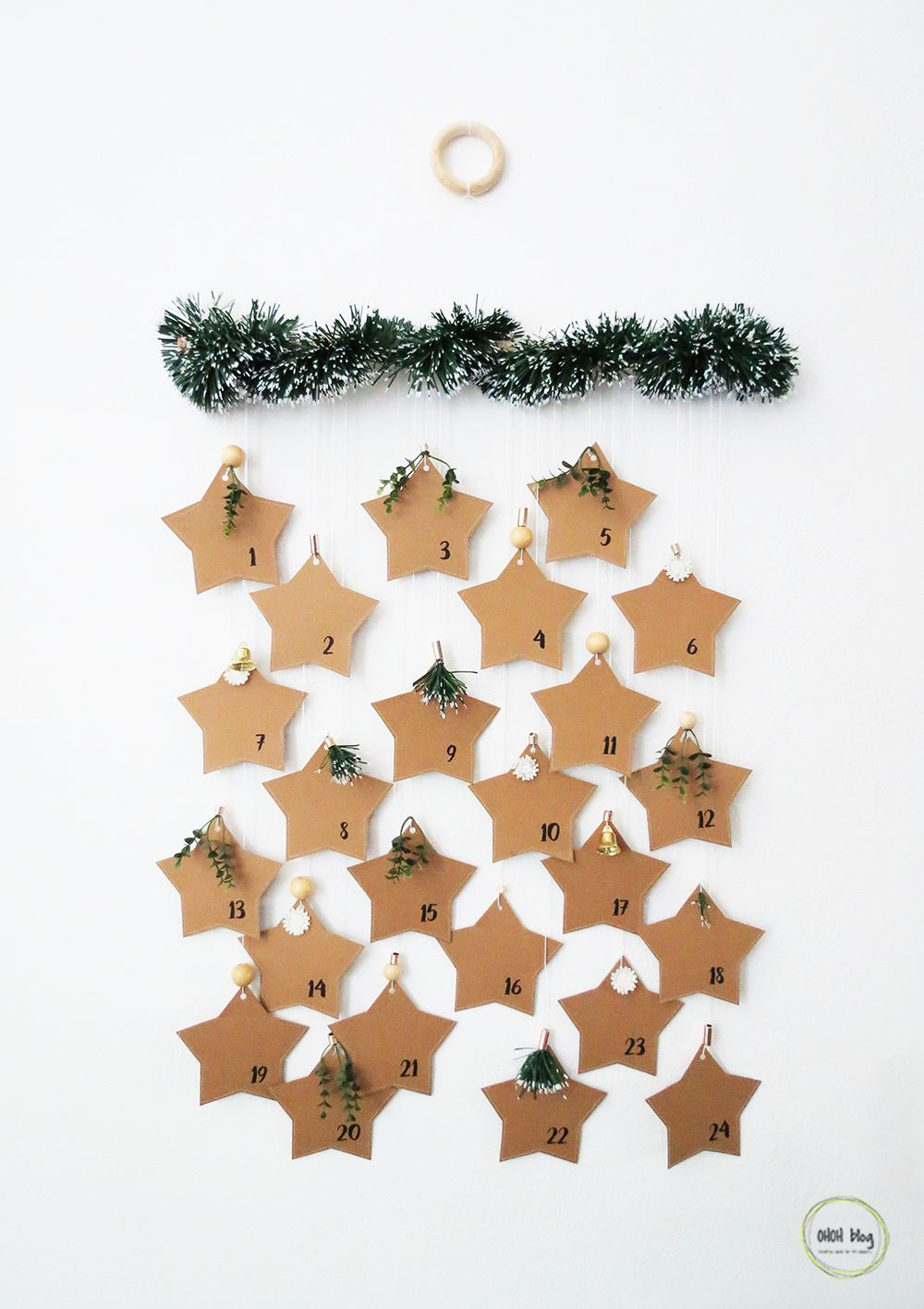 DIY Paper Star Adventskalender – Ohoh Deko