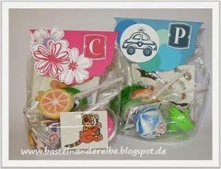 Geschenktütchen für einen Kindergeburtstag, birthday gift for little guests, goodie,