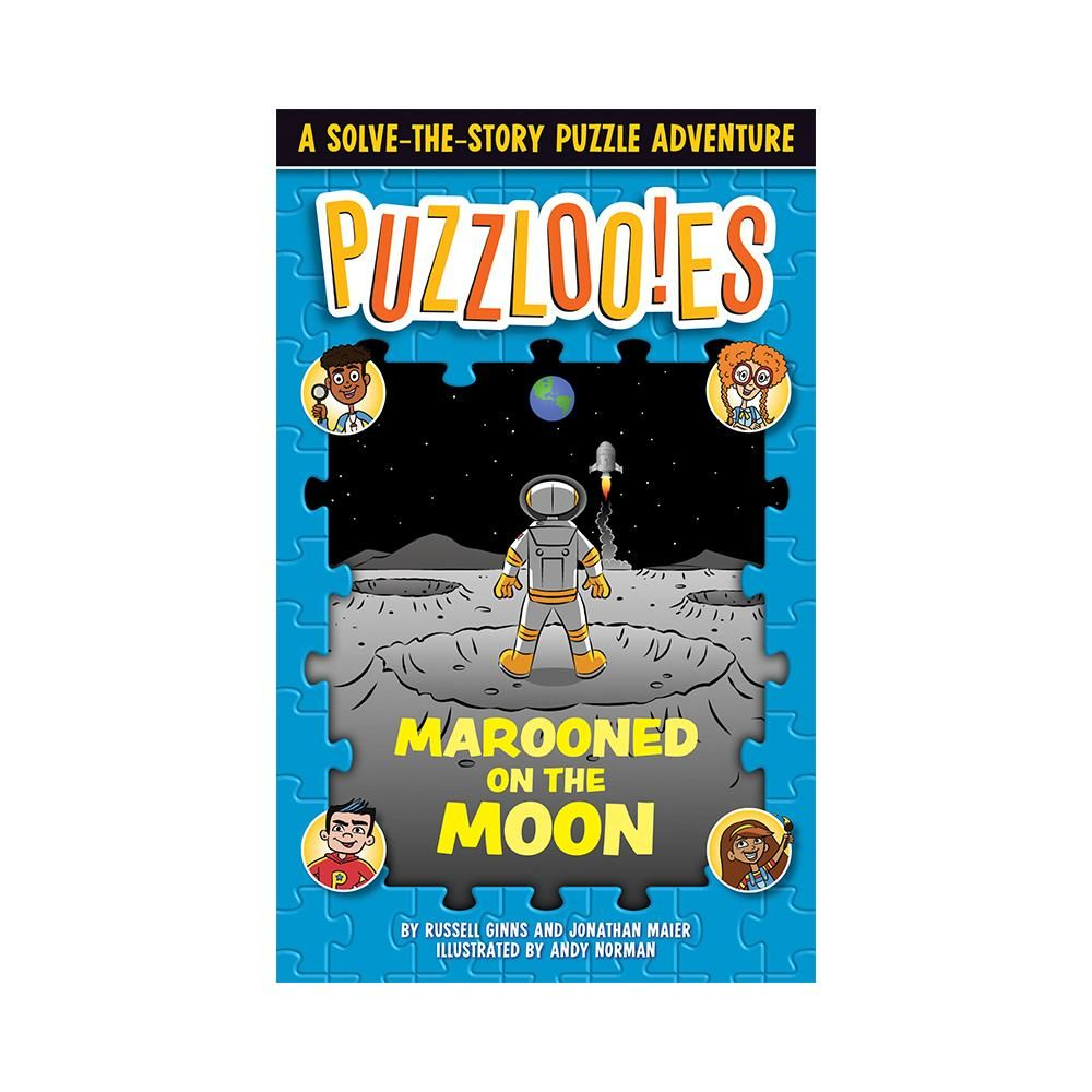 """READ THE STORY. SOLVE THE PUZZLES. SAVE THE DAY! Puzzlooies! is a unique new series that mixes zany, funny stories with tons of puzzles that must be solved to move the adventure forward. Perfect for readers ages 7-11 who loved Brain Games for Clever Kids, the A to Z Mysteries, and Mad Libs! What in the world is a """"Puzzlooey""""?! It could be a whodunit mystery, or a thrilling survival adventure, or a romp through outer space. It's always a funny, engaging story that unfolds amid tons of related puz"""