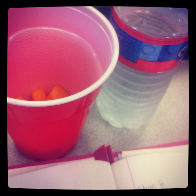 Eating melon in class #stayHealthy