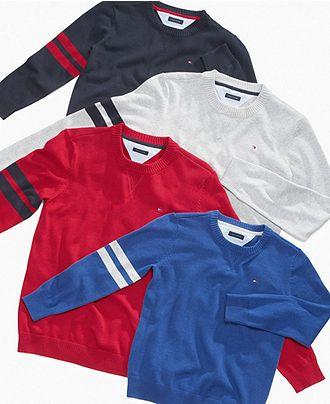 Tommy Hilfiger Kids Sweater, Little Boys Christopher Crewneck Sweater - Kids Boys 2-7 - Macy's
