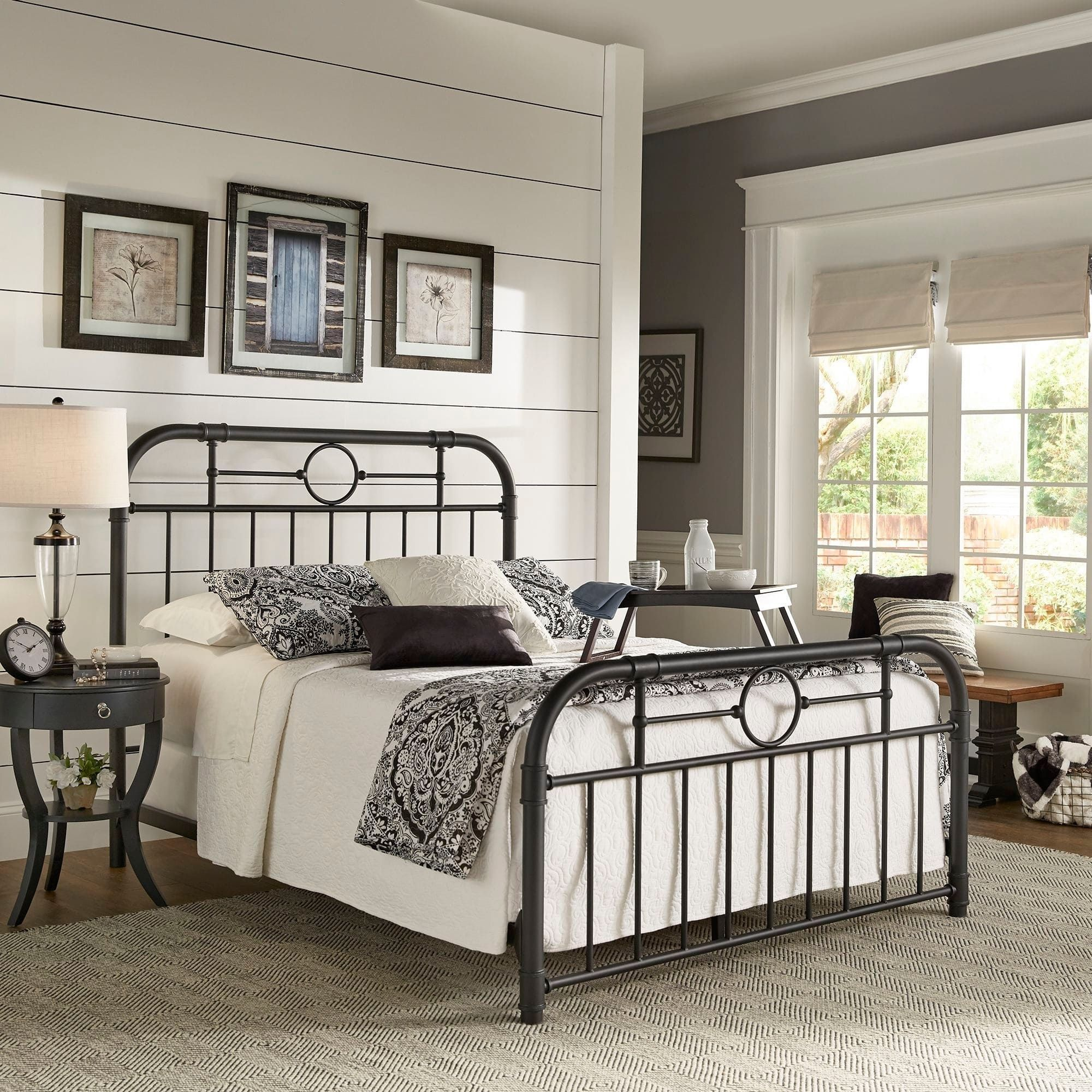 Kendal Black Metal Bed by iNSPIRE Q Classic (Full) in 2020