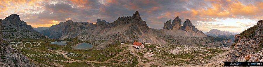 Tre Cime di Lavaredo at sunrise by dieguz86 via http://ift.tt/2cbVo7v