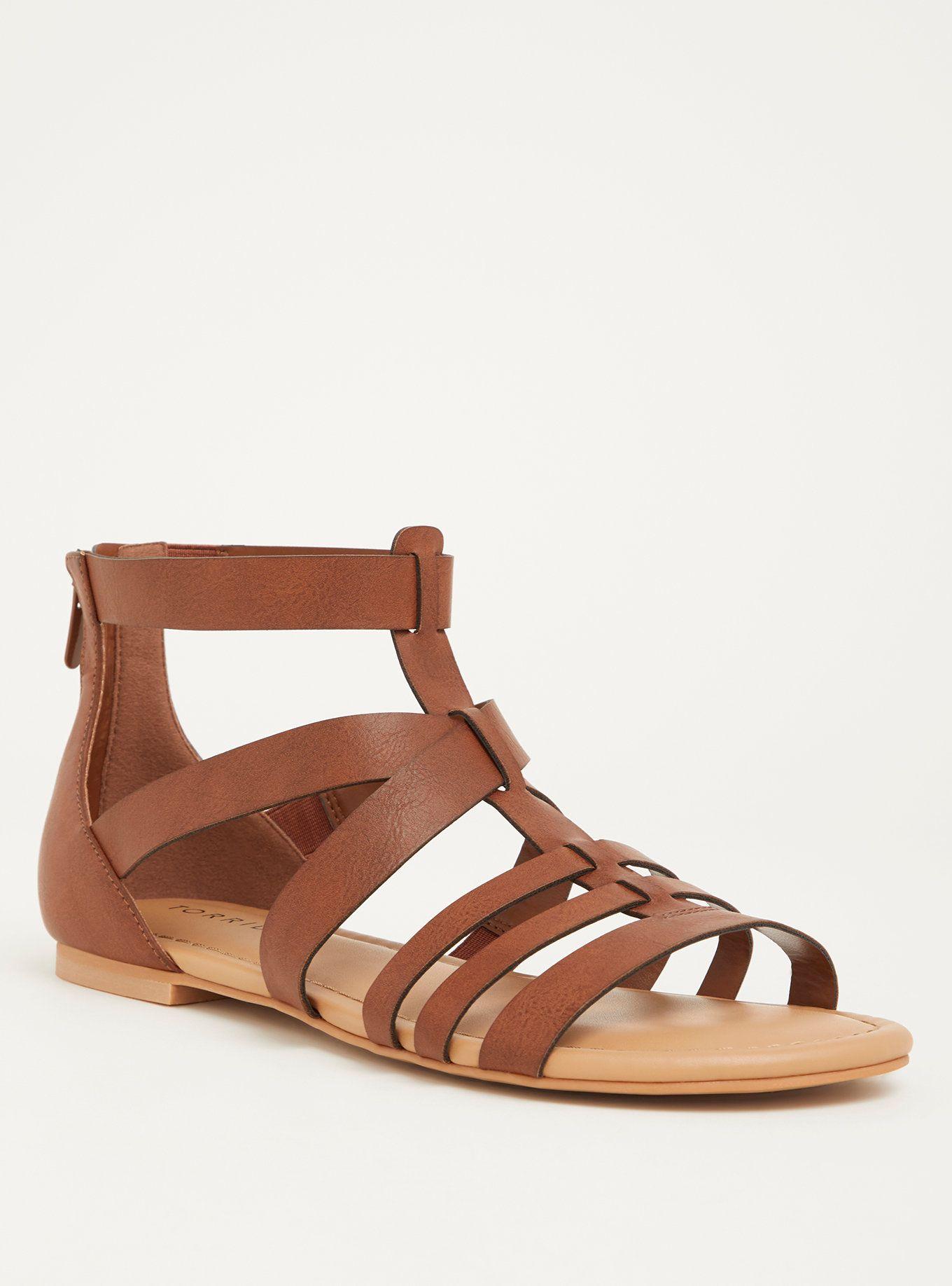5941266725a Brown Gladiator Sandal (Wide Width) in 2019