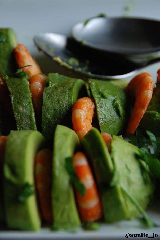 salade de crevettes et avocats & vinaigrette