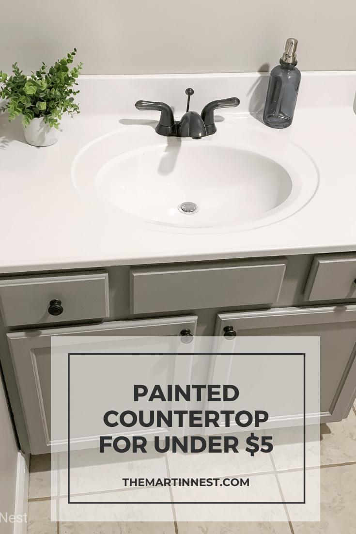 Painted Bathroom Sink For Under 5 Diy Bathroom Remodel Painted Bathroom Bathroom Renovation Diy