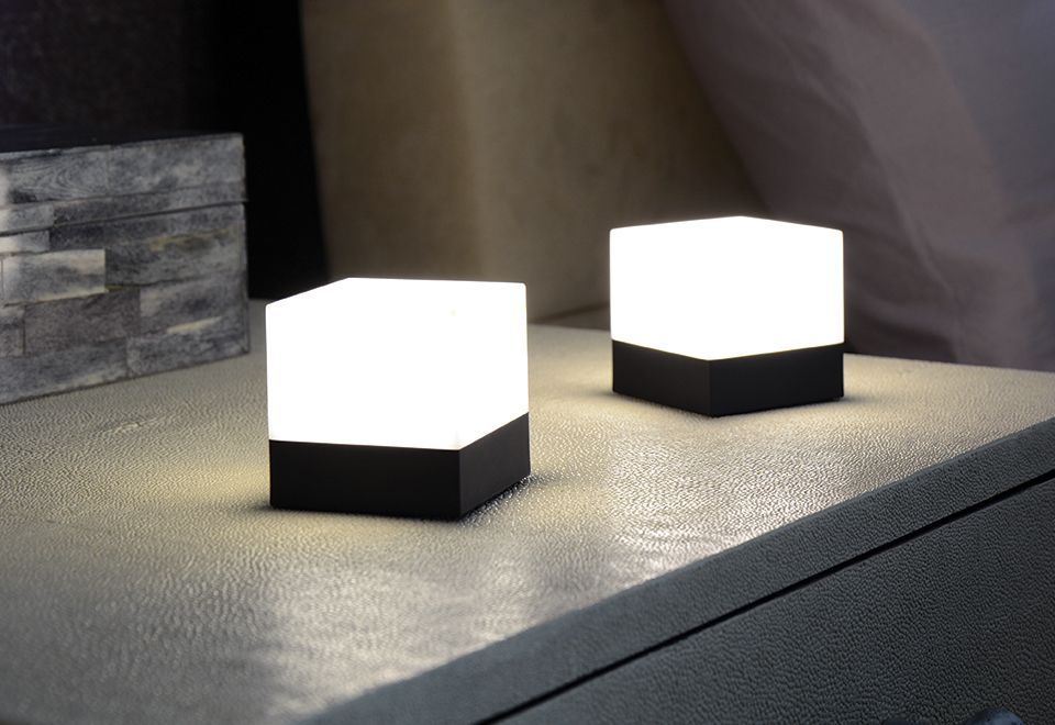 Led Cube Lights Set Of 2 Sharper Image Cube Light Lights Sharper Image