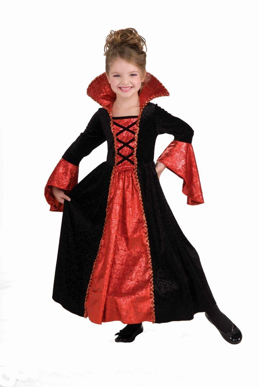 Princess Vampiress Girls Halloween Fancy Dress Vampire Childs Childrens Costume