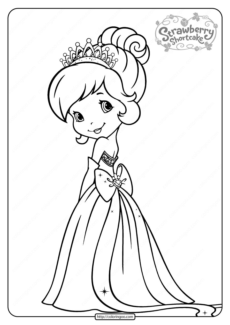 Free Printable Strawberry Shortcake Coloring Page 06 In 2020 Princess Coloring Pages Strawberry Shortcake Coloring Pages Coloring Pages