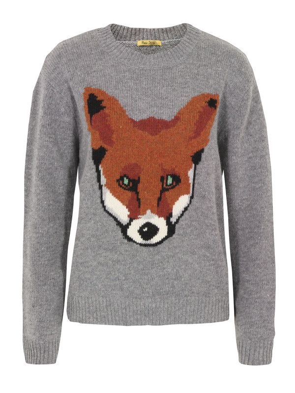 Peter Jensen – grey 'Fox' wool jumper. The knit is unisex and features a round neck, ribbed cuffs and hem. £160 at Coggles.com