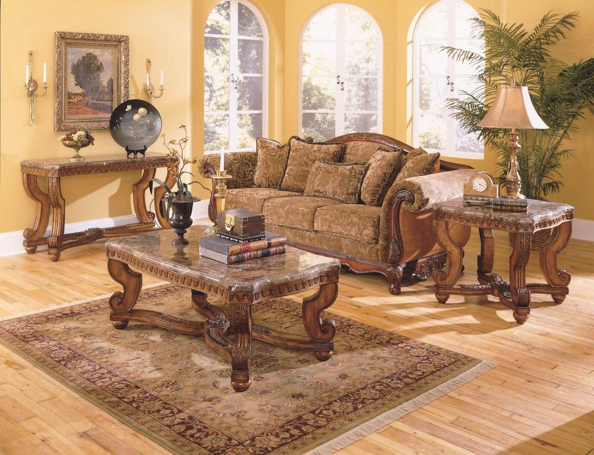 Old World Living Room Design