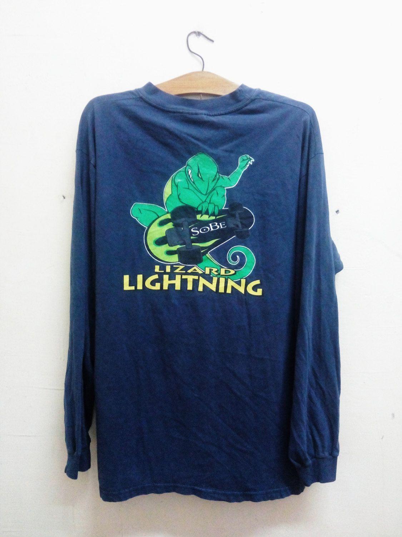 2c5b5e509911a Sale Rare!!Vintage SoBe Lightning Lizard Issue American brand of ...