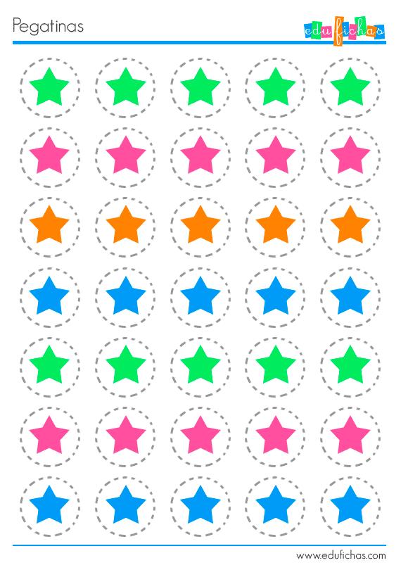 Pegatinas de estrellas para imprimir pegatinas for Pegatinas decorativas infantiles