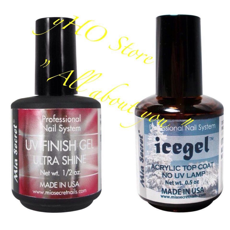 Uv finish gel & ice gel ... Mia Secret | Mia Secret products | Pinterest