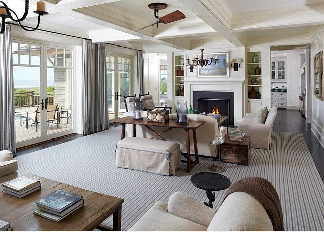 Coastal Living Room. Coastal Living Room Decor. Hampton style ...