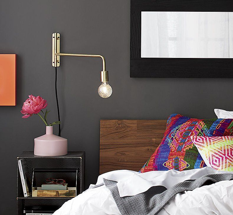 Brass Furniture Lighting And Decor Swing Arm Wall Lamps Brass