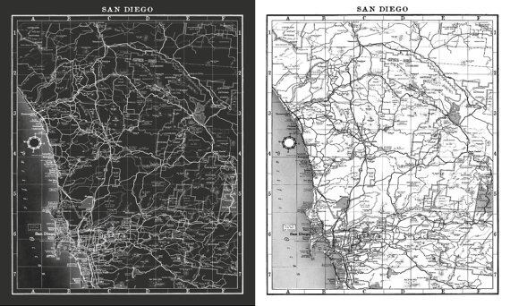 Vintage San Diego Map.San Diego Map Print Black And White Vintage San Diego Map Print