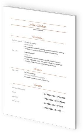 Google Docs Resume Templates By Visualcv Resume Templates Resume Resume Template