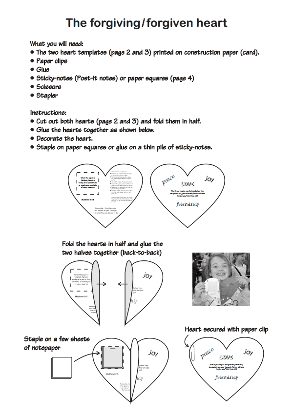 Forgiveness pdf Love this for Interactive Sunday School Journals