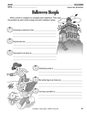Check Out This Worksheet That Gives Kids Practice Writing Similes And Metaphors Next Step Have St Similes And Metaphors Halloween Worksheet Simile Activities Metaphor worksheet 3rd grade