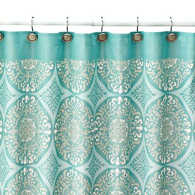 Breathe New Life Into Your Bathroom With This SONOMA Style Tiburon Shower Curtain In Teal Multi Medallion And Scroll Pattern Offers Charming