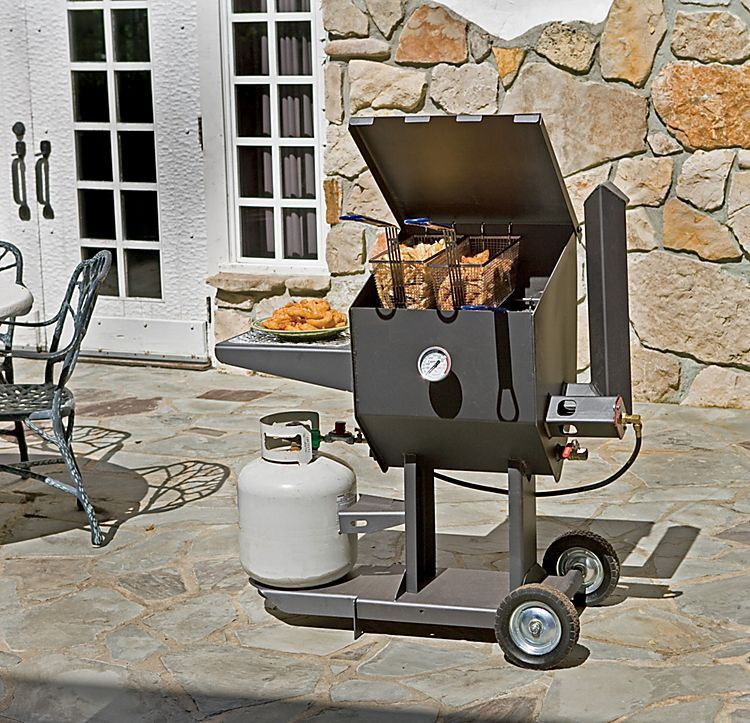 Cajun Fryer by R & V Works 8.5-Gallon Propane Cooker Deep Fryer ...