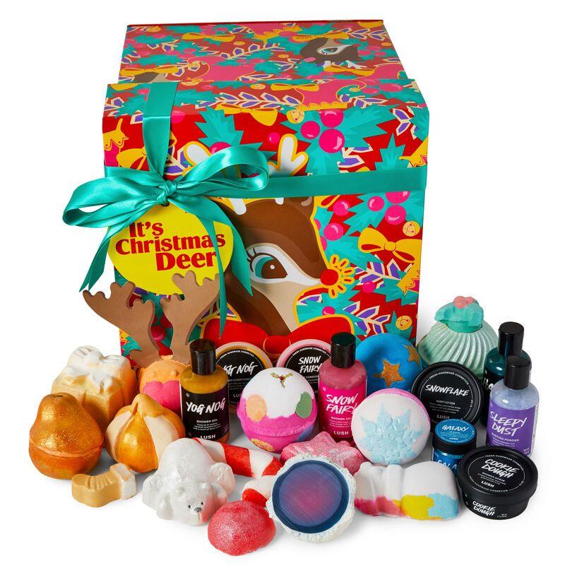 It S Christmas Deer Gift Sets Lush Fresh Handmade Cosmetics Lush Christmas Lush Gift Christmas Deer
