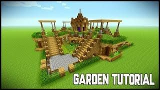 minecraft beautiful garden garden decoration ideas underground survival base tutorial