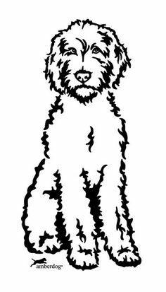 Lab Poodle Silhouette Labradoodle Drawing Labradoodle Art