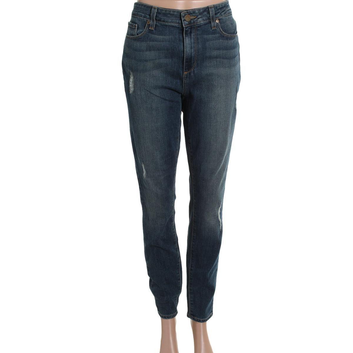 Paige Womens Juniors Hoxton Medium Wash Denim Skinny Jeans
