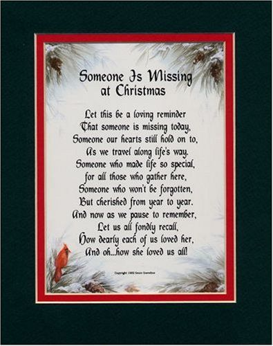 Memorial Poems For Loved Ones At Christmas Someone Is Missing Female
